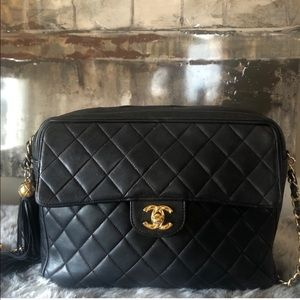 Chanel Auth Rare Vintage Classic Leather Bag